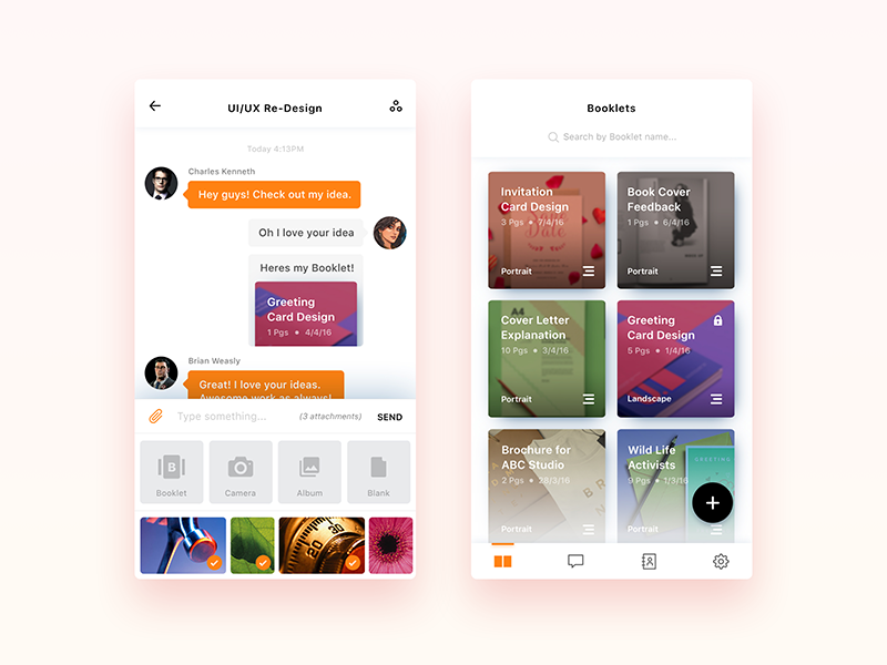 ScriboChat - Redesign message draw social chat iphone shelf books design ux ui app ios
