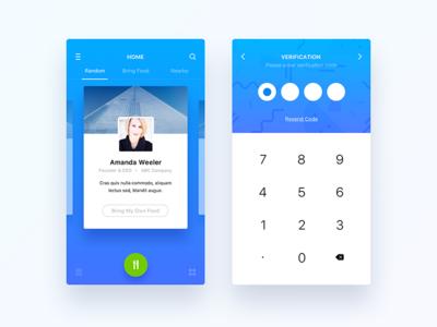 Home and Verification UI UX Design
