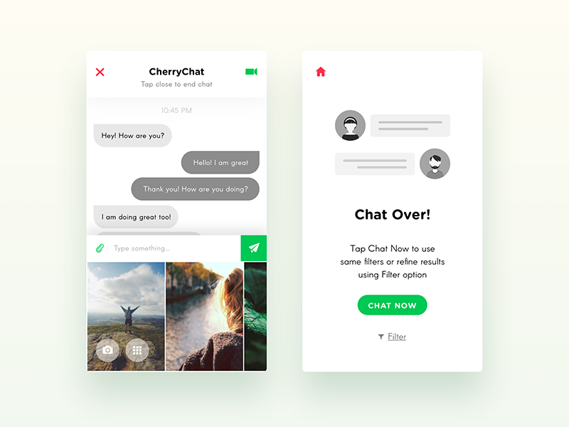 CherryChat - iOS UI Design