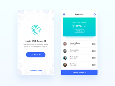 FoneWire - WIP - Payment App UI UX Design
