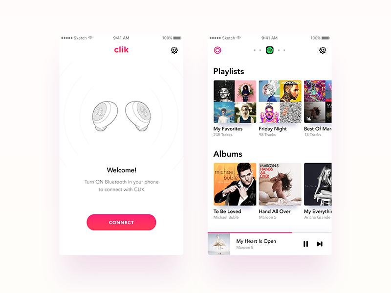 Music Player App - CLIK by Nimasha Perera on Dribbble