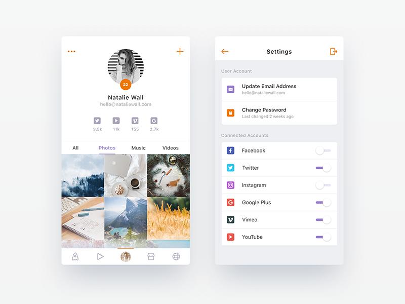 Upcoming Social App - WIP 3