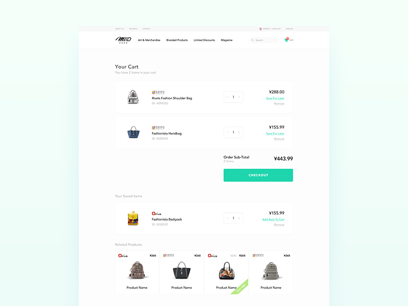 MIID - Ecommerce Fashion Web UI/UX Design by Nimasha Perera