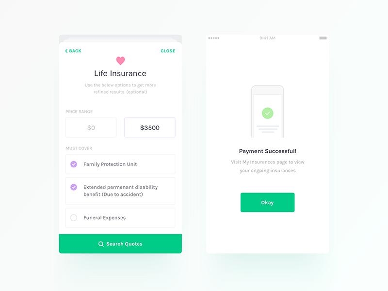 Insurance App - UI/UX Design by Nimasha Perera on Dribbble