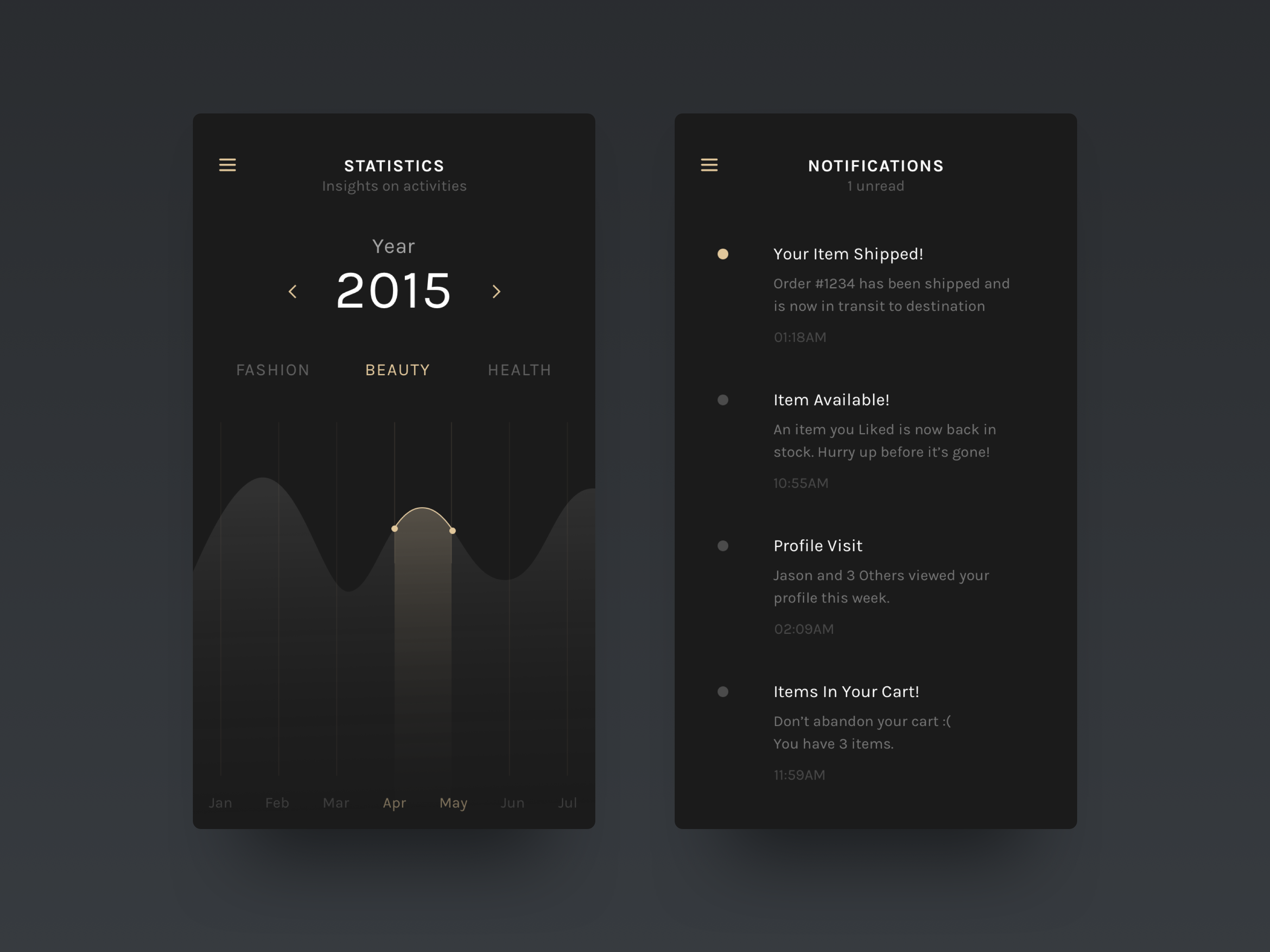 Dribbble elegance mobile 1 by nimasha perera for Mobel luxus designer