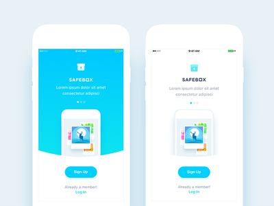 Onboarding app social utility security safe iphone walkthrough details onboarding android ios