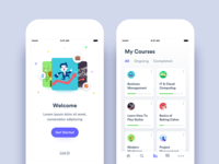 Online Courses App - Onboarding & My Courses views