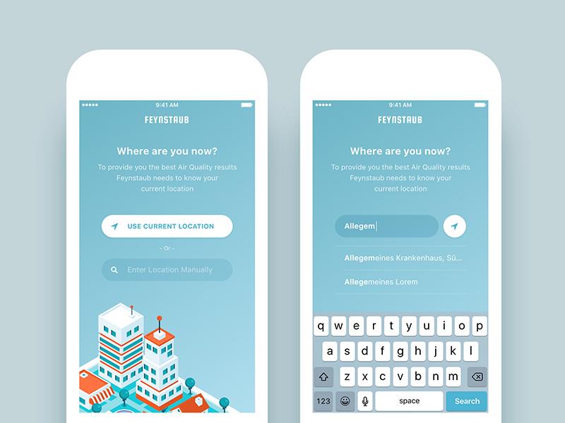 Air Quality Check - App UI/UX Design