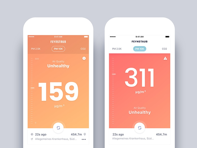 Air Quality Check App - Final design and First version