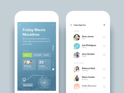 Relay - Event/Activity Planning App Redesign social compose create activity design redesign ux ui app event android ios