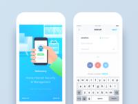 Netonomy App Redesign - Onboarding & Sign Up