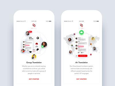 Mymanu CLIK - Translate App - Onboarding iphone user interface mymanu design ux ui translate android ios