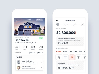 Real Estate App - Property Listing and Make an Offer ux ui iphone details form offer listing sell property real estate android ios