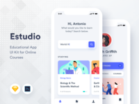 Estudio Educational Mobile App UI Kit