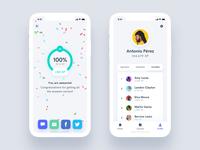 Estudio - Educational Mobile App UI Kit educational course learn study education list profile minimal design iphone ux ui android app ios