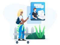 IM mobile photoshop illustrator sketch web illustration messaging chat instant message im illustration artwork