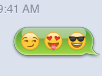 iPhone Text Message Emoji