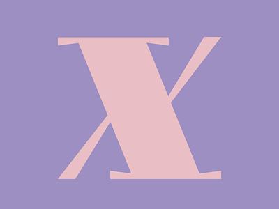 X | 36daysoftype logo branding flat vector design typography typedrawing typedesign lettering 36daysoftype