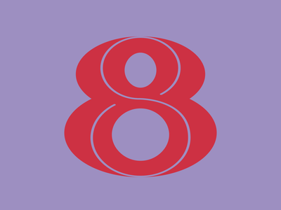 8 | 36daysoftype flat number graphicdesign vector design typography typedrawing typedesign lettering 36daysoftype