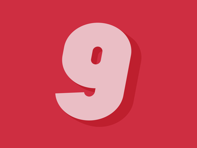 9 | 36daysoftype vector design branding number graphicdesign typography typedrawing typedesign lettering 36daysoftype
