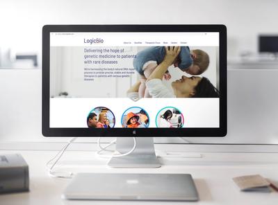 Biotech company website design