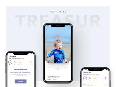 Treasure for the Lifecake App colour ux iphone x iphone digital design clean ios app mobile ui