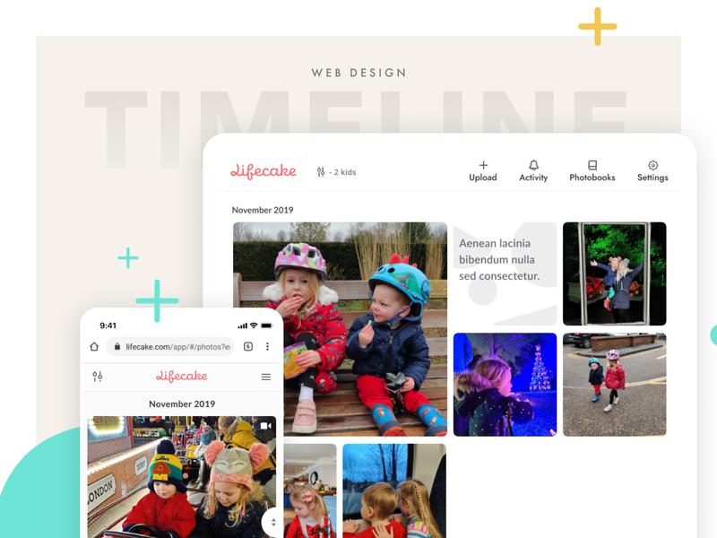 Lifecake Timeline, Responsive website