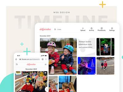 Lifecake Timeline, Responsive website responsive responsive design grid design timeline grid ux web design iphone x digital design mobile ui