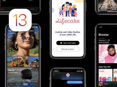 IOS 13 Keynote & Lifecake ipad pro iphone x ios app mobile ui mobile app app store keynote apple ios 13 ios