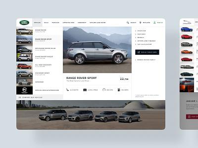 Jaguar Land Rover - Desktop web designer web jlr jaguar land rover web design iphone x digital design ios app mobile