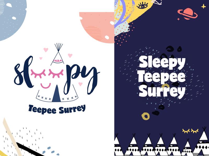 Sleepy Teepee branding teepee sleepy sleep logo design logo branding