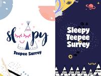 Sleepy Teepee branding
