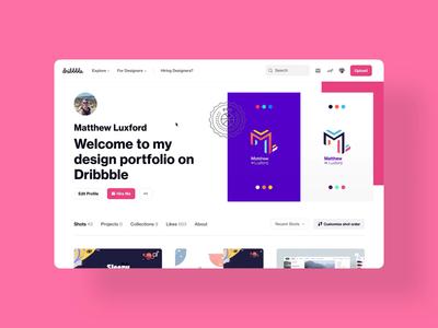 Dribbble update! branding redesign web design dribbble