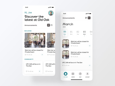IOS events tab ux clean iphone iphone x ios digital design app ui mobile
