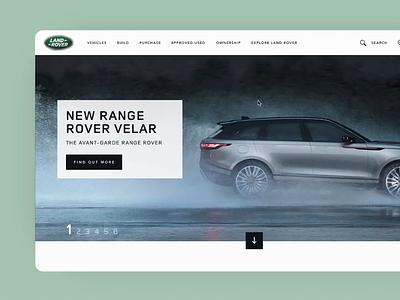 Land Rover Navigation principle land rover navigation bar navigation responsive design web design digital design animation clean ui