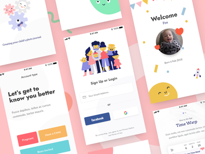 Lifecake - Onboarding Concept login sign up on boarding ui pack onboarding mobile kids iphone ipad illustration graphic app