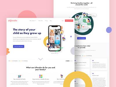 Lifecake A/B testing responsive design web design app ux website branding design illustration digital design clean ui