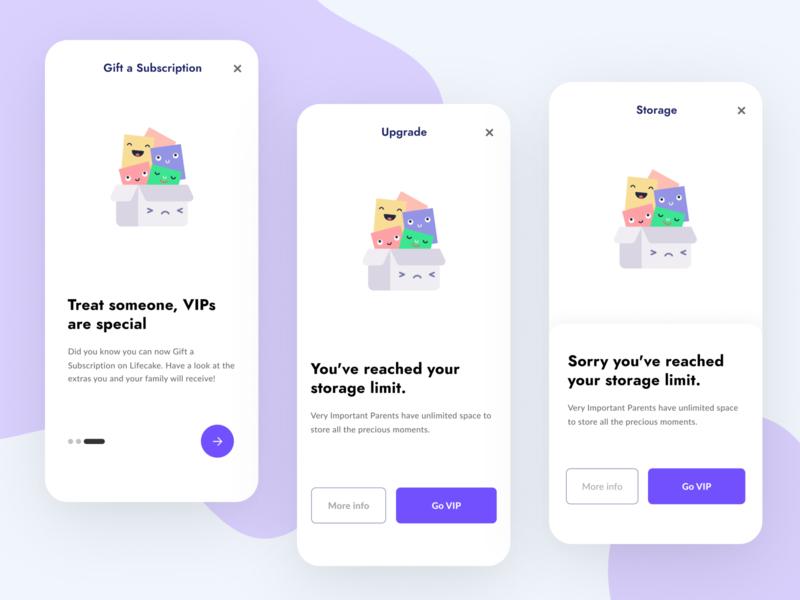 Lifecake in-app messaging