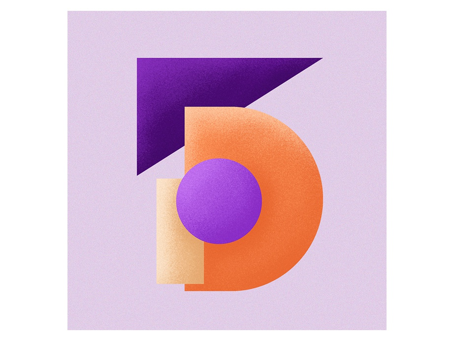 number 5 five numbers 36daysoftype06 36daysoftype 36days typography type shapes illustration design colours