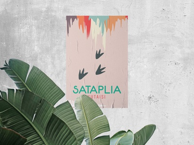 Sataplia Cave Poster pastel color illustrator illustration design art design flatstyle flat abstract minimalist poster art posters poster design illustration branding mockup poster
