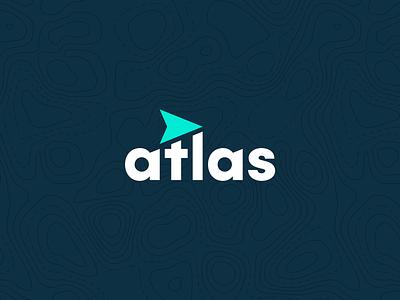 Atlas Branding brand identity design consulting topography location arrow navigate icon set typogaphy modern logo branding