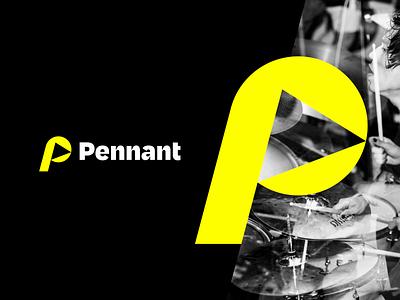 Unchosen Brand Direction for Pennant yellow modern pennant flag logo brand identity design brand design brand identity branding
