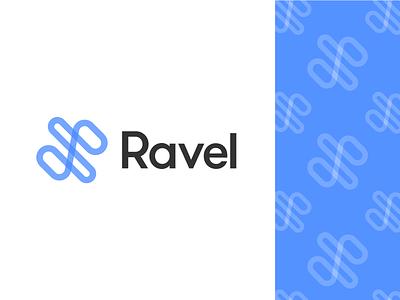 Unchosen Brand Direction for Ravel ravel brand identity design blue tech brand modern minimal logo brand identity branding