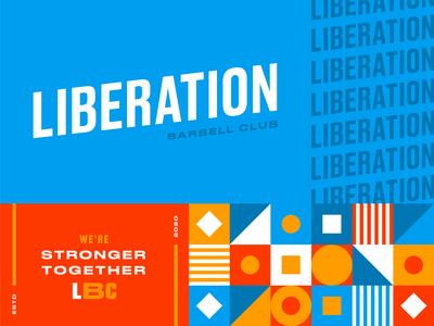 Another Unchosen Brand Direction for Liberation Barbell Club blue gym weightlifting diversity inclusion shape pattern logo brand identity design brand design branding