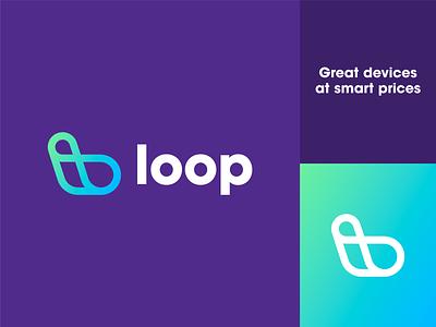 Unchosen Brand Direction for Loop infinity loop purple gradient minimal logo brand identity design brand design branding