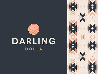 Darling Doula Brand quilt babypink pregnancy doula badge logo modern logo logo brand identity design brand design branding