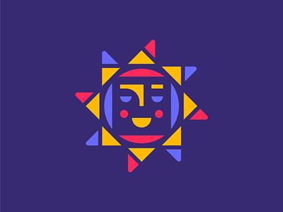 Mercado Brand Mark purple bright mexico colorful smile sun brand identity design branding logo illustration