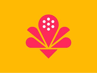 Geometric Lotus diwali geometric illustration lotus flower india lotus brand identity design brand identity flat minimal branding logo illustration