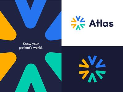Brand Direction for Atlas navy brand sans serif logo tagline location atlas world bright creative direction logo brand identity design brand identity branding