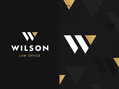 Brand Elements for Wilson Law Office wilson law brand w brand gold gradient logo brand identity design brand identity brand
